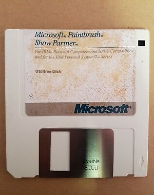 Microsoft Paintbrush and Show Partner Utilities Disk