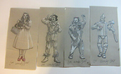 Wendy Gell Wizard of Oz Original pencil drawings for character Jewelry Rare OOAK