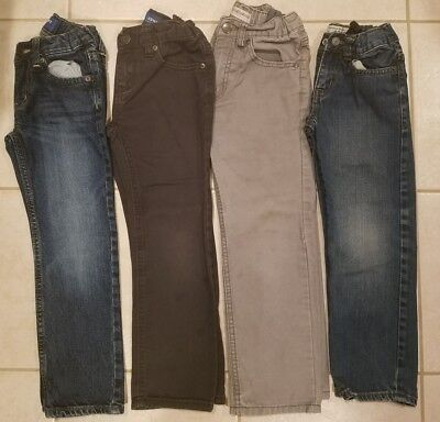 LOT OF 4 JEANS OLD NAVY CHILDREN'S PLACE boys pants size 5
