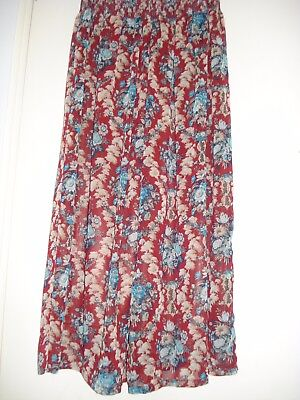 Chiffon Wide Pants, Retro Floral Pattern from Japan