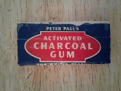 Vtg Rare 1944 American Chewing Gum Wrapper Full Pack Peter Paul's Charcoal