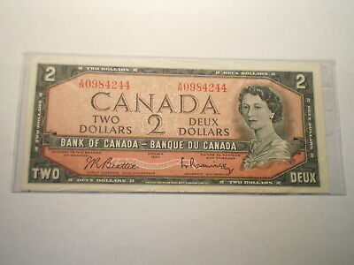 1961-72 Two Dollar Note Bank Of Canada