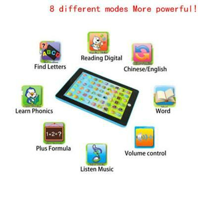 Tablet Pad Computer For Kids Children Gift Learning English Educational Toy B Bт