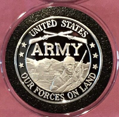 United States ARMY Collectible Coin 1 Troy Oz .999 Fine Silver Rare Round USA