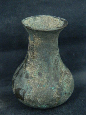 "Ancient Islamic Bronze Bottle C.1200 Bc No Reserve Price  """"r6339"""""