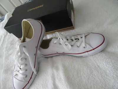 New Converse Unisex Sneakers Mens 8 Wms-10  All Leather In Box