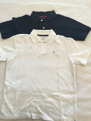 Tommy Hilfiger Boys Polo Tops (2) Navy - White Size 12-14