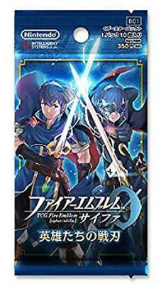 """(1pack)TCG Fire Emblem 0 Booster Pack """"Heroes' Warrior Blade"""" (10 cards in)"""
