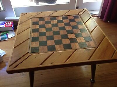 vintage chess table