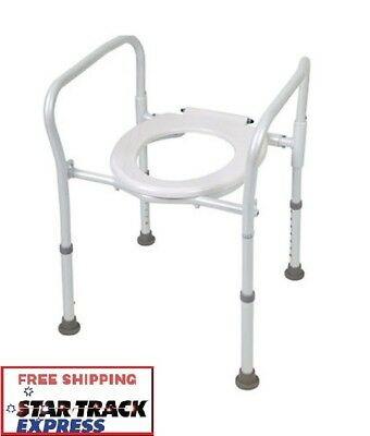 AusCare Aluminium Folding Over Toilet Aid, Use As Shower Chair,Travellers Choice