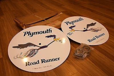 NOS 1969 Plymouth RoadRunner Advertising/Stationary/Promotional Wheel Discs