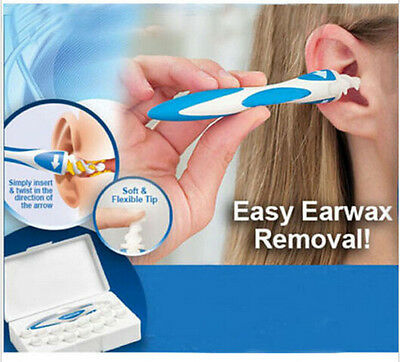 Ear Wax Cleaner Removal Easy Swab Earwax Remover Spiral Soft Safe Earpick Tool