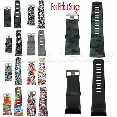 Silicone Rubber Watch Band Wristband Strap with Tools for Fitbit Surge Watch S/L