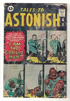 MARVEL COMICS TALES TO ASTONISH  28 VG- 3.0  1962  Gorilla