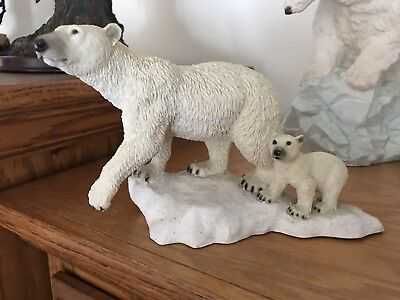 1988 Castagna Polar Bear Mom & Her Cub - Discontinued - Rare - Impossible Find