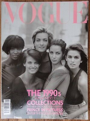 British Vogue magazines 1990 - 4 Issues Collectors Editions