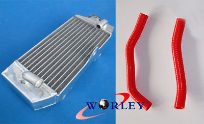 Aluminum Radiator & RED Silicone Hose for Yamaha YZ85 YZ 85 2002-2015 2013 2014