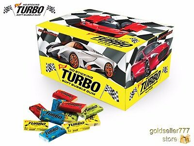 Turbo Bubble Gum Chewing Gums Big Box 100 pcs - 450 g / 16 oz - FREE SHIPPING