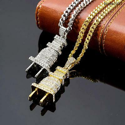 Unisex Chain Power Plug Pendant Shock Hip-Hop Necklace Jewelry Alloy Chain Gifts