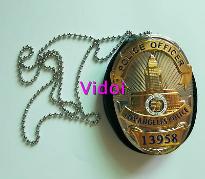 Gold Metal Badge Special Agent Collectible Badges Cosplay Props BadgeHolder Gift