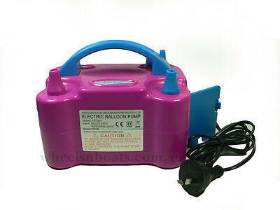 professional Electric Balloon Inflator Pump Two Nozzle Air Blower Portable AU