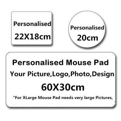 Custom Made Printed Personalized Mouse Pad Photo, logo, Large mouse mat Round B3