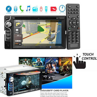"Autoradio Stereo navigatore Bluetooth DVD CD MP3 FM USB SD AUX 6.2"" Touch 2 DIN"