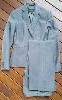 Country road pure 100% wool suit, grey pin stripe, jacket size 14, pants size 12