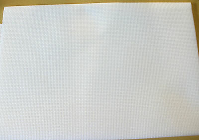 White 14 Count Aida Cloth - 100% Cotton, Cross Stitch Fabric  - 20cm x 25cm