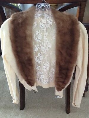 Cashmere and mink vintage sweater