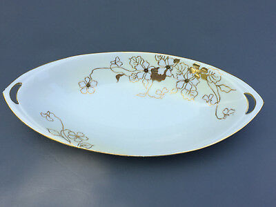 Antique  hand painted NIPPON, porcelain celery dish 1891 - 1921