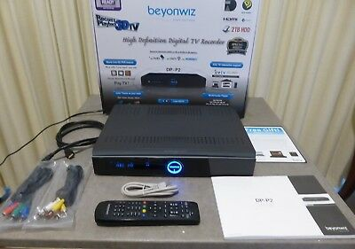 Beyonwiz Dp-P2 Pvr, 2Tb Hd, Twin Tuner, Box, Remote, Cables, Rrp Was $899.00