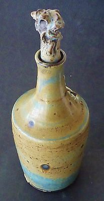 Beautiful VINTAGE Australian pottery DOUG ALEXANDER stoneware DECANTER& STOPPER