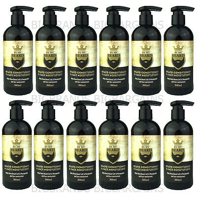 12 x By My Beard Conditioner Face Moisturiser Mens Facial Care Grooming 300ml