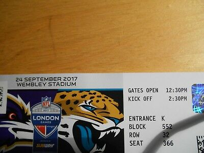 nfl london 2017 tickets jaguars at ravens wembley stadion spielfeldnah eur 30 00 picclick de. Black Bedroom Furniture Sets. Home Design Ideas