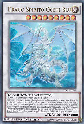 Drago Spirito Occhi Blu CT13-IT009 ULTRA RARA NEAR MINT NUOVA/ MINT