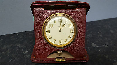 Vintage 8 Day Travel Clock in Case.