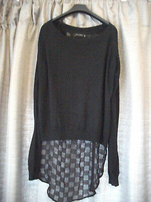 Womens Black Jumper/Top Size L/14 by Religion