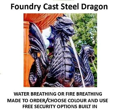 Reproduction Victorian  Dragon Water Feature Statue  British Foundry Made