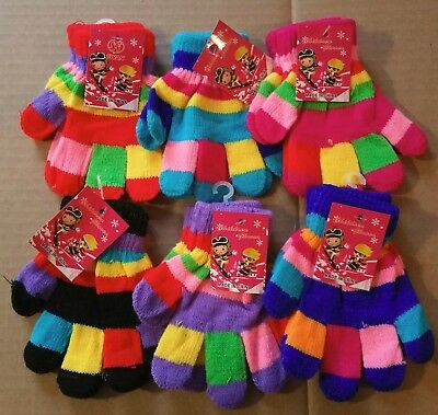 Wholesale Lot Color Magic Knit Gloves Toddler