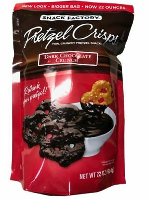 Snack Factory Pretzel Crisp Dark Choclate Crunch,Thin Crunchy Snack 22 OZ $50