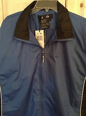 Really nice SILVERTON Casino Jacket L windbreaker Large Royal Blue Black Zipper