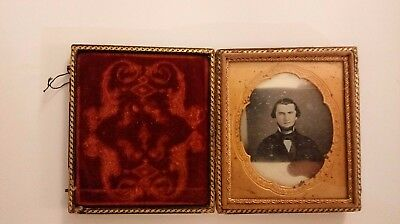 Vintage Silver Photograph of man from 19th Century, in frame booklet.