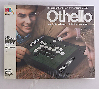 Othello 1986 Strategic Vintage Board Game Milton Bradley Ages 8+ #4656 2 Players
