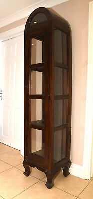 Tall Narrow Display Cabinet With lockable Glass Door - contemporary