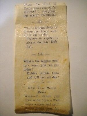 EARLY DUBBLE BUBBLE WRAPPER - BEFORE COMICS? 1920's?