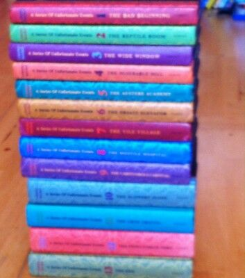 All 13 set of Hardback Lemony Snicket - A series of Unfortunate Events (RRP £90
