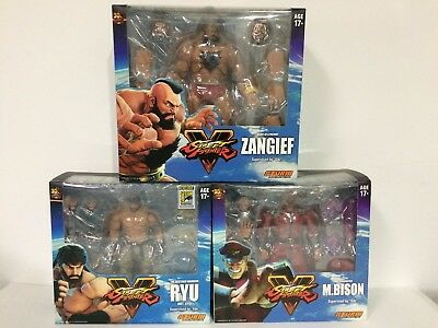 Lot Of 3X Storm Collectibles Street Fighter Sf Sdcc 2017 Ryu + Bison +Ken