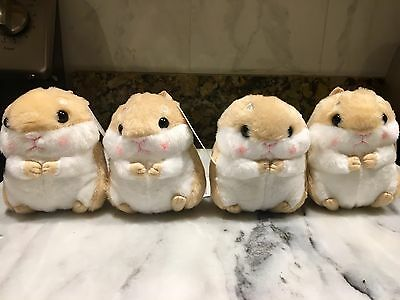 "Plush Stuffed Animal Hamster Keychain Adorable Popular Korean Toy 3"" X 4"""