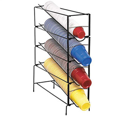 DISPENSE-RITE (WR-CT-4) Adjustable Disposable Cup Dispenser Wire Rack *FREE LID*